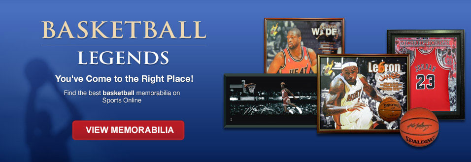 Basketball legends - You've Come to the Right Place - Find the best basketball memorabilia on Sports Online - View Memorabilia