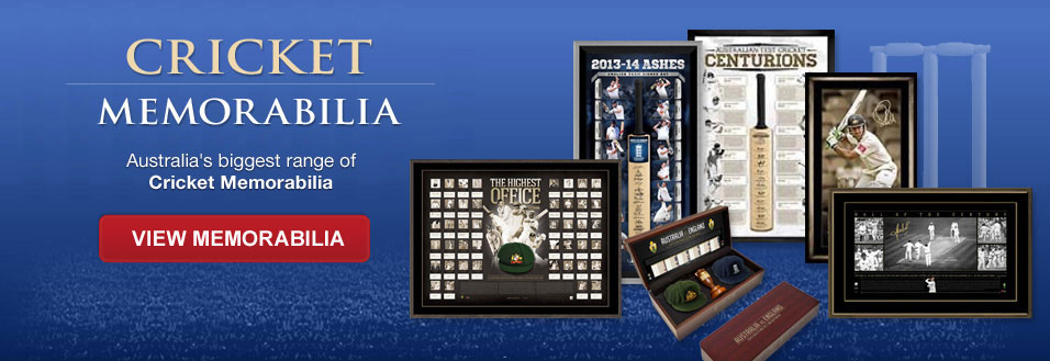 Cricket memorabilia - Australia's biggest range of Cricket Memorabilia - View Memorabilia