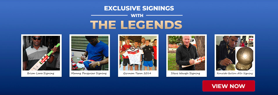 Exclusive signings with the legends - view now