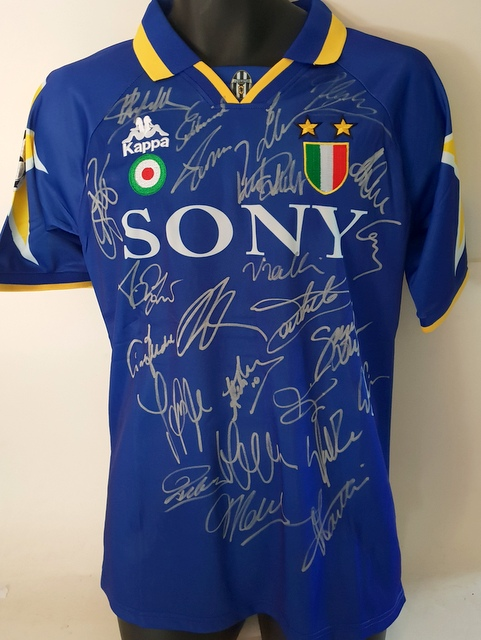 release date 5d97f aead5 Juventus 1996 European Champions Team Signed Jersey - SPECIAL!