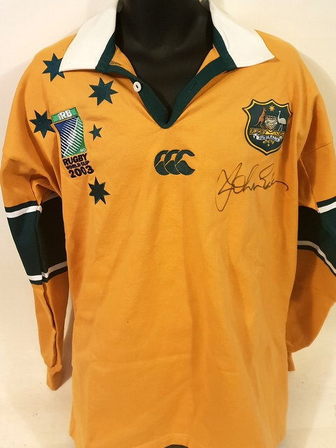 John Eales Personally Signed Wallabies Jersey