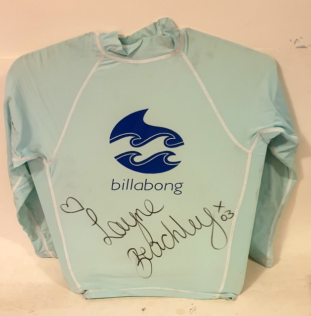 Layne Beachley personally signed Competition Worn