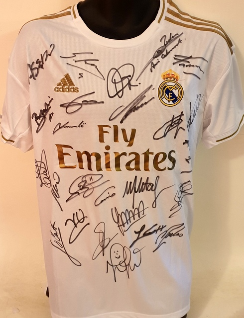newest 1f906 1a8d7 Real Madrid 2019-2020 Team Signed Jersey - Hazard, Kroos, Ramos