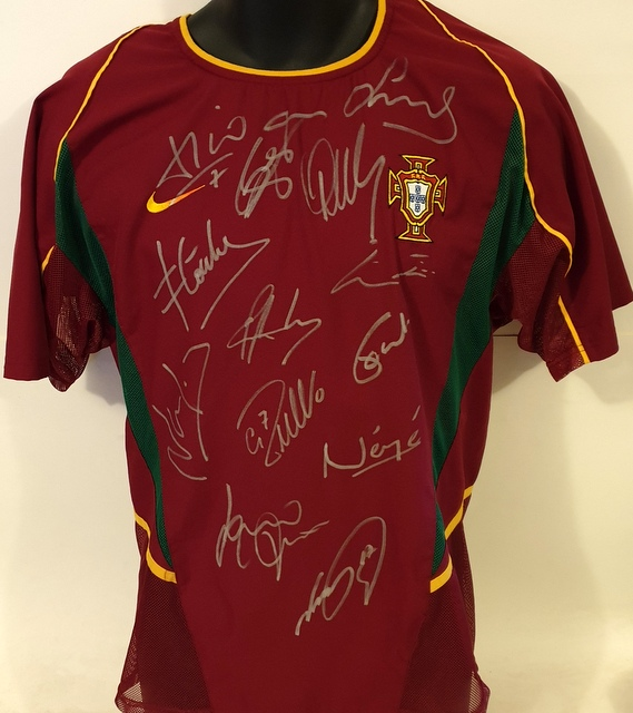 Legends of Portugal Personally Signed Jersey - Ronaldo, Rui Costa, Figo