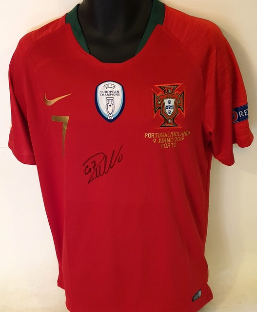 Cristiano Ronaldo Dual-Signed Portugal Nations League 2019 Victory Jersey