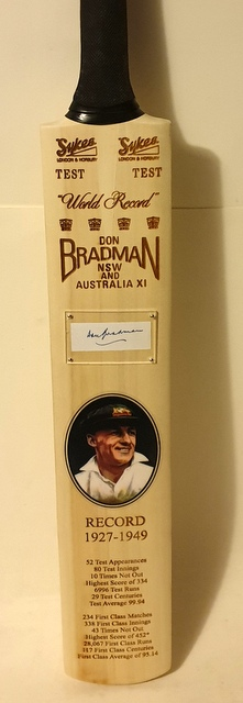 Sir Donald Bradman Personally Signed Bat - INCREDIBLE PRICE
