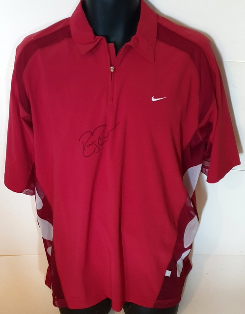 Roger Federer Match Worn Nike Shirt - Gerry Weber Open 2003 v Sargsian - Personally Signed