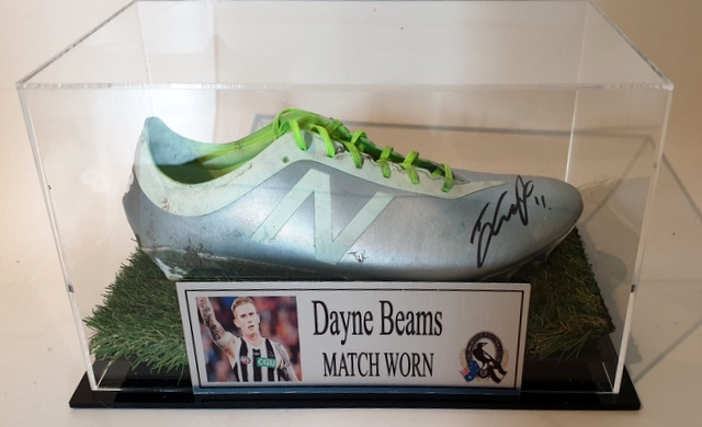 Dayne Beams MATCH WORN Football Boot, Collingwood Magpies, Personally Signed