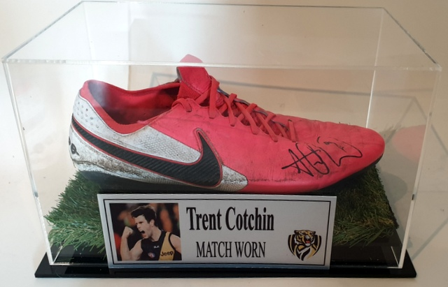 Trent Cotchin MATCH WORN Football Boot, Richmond Tigers, Personally Signed