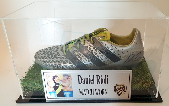 Daniel Rioli MATCH WORN Football Boot, Richmond Tigers, Personally Signed