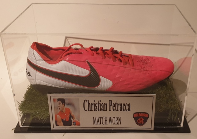 Christian Petracca MATCH WORN Football Boot, Melbourne Demons, Personally Signed