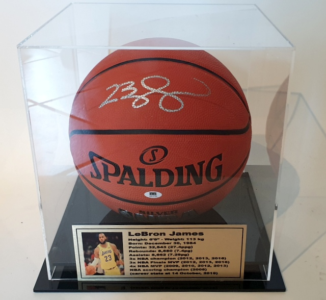 LeBron James Signed Basketball