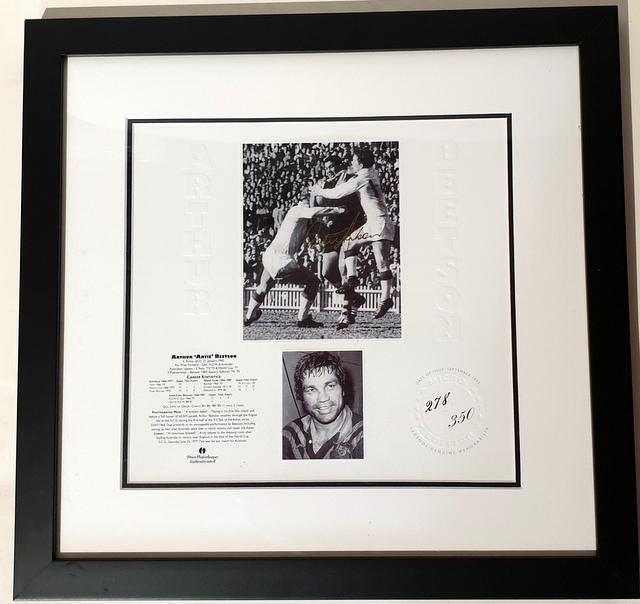 "Arthur Beetson Personally Signed ""Legends Series"", Framed"
