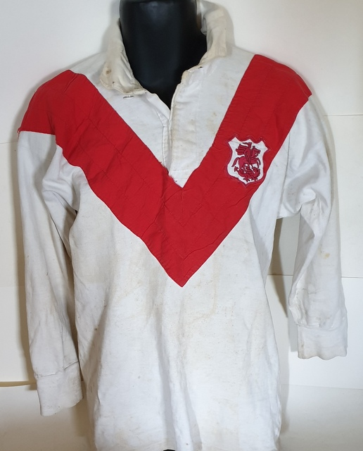 Johnny Raper NRL Immortal MATCH WORN Semi Final St George Dragons Jersey 1967