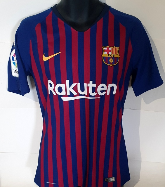 Lionel Messi MATCH WORN Barcelona Jersey, Personally Signed, v SD Huesca 2018