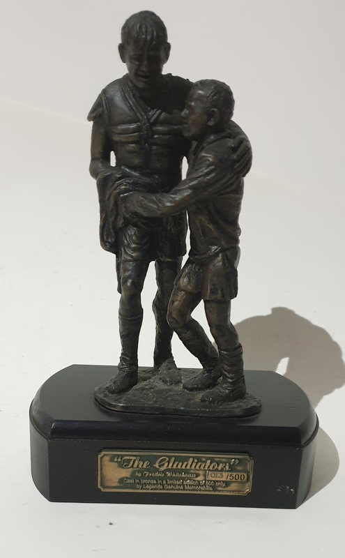 """The Gladiators"" - Norm Provan and Arthur Summons - Bronze Statuette"