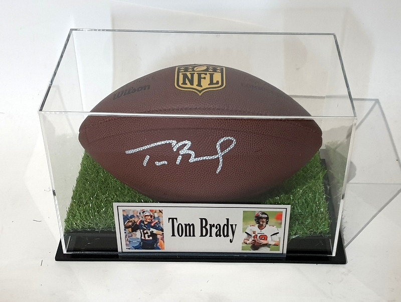 Tom Brady Hand Signed Official NFL Football