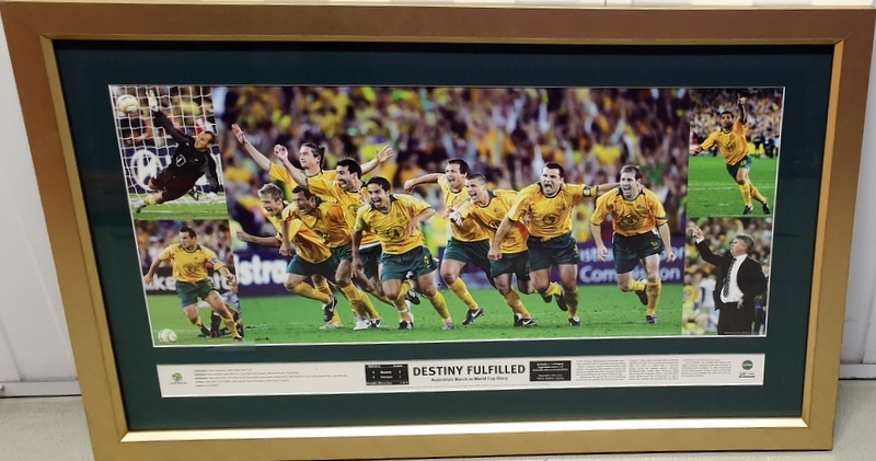 "Australian Socceroos 2006 World Cup Qualification ""Destiny Fulfilled"", Framed"