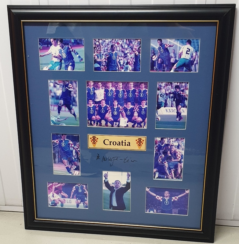 Croatia 2006 World Cup Soccer Tribute Collage Personally Signed by Zlatko Kranjcar, Framed