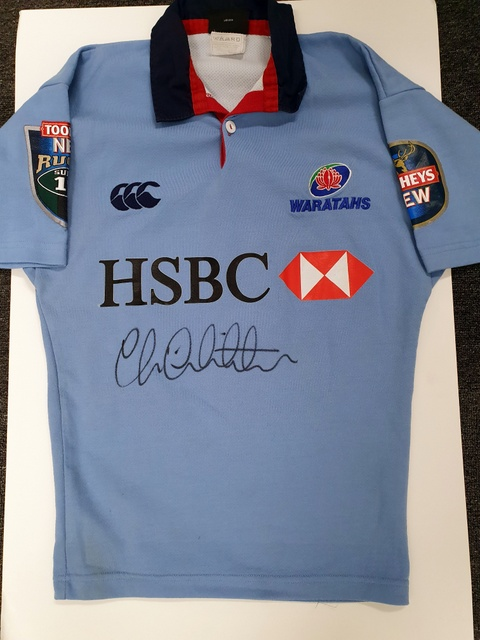 Chris Whitaker NSW Waratahs Match Worn Super Rugby Jersey