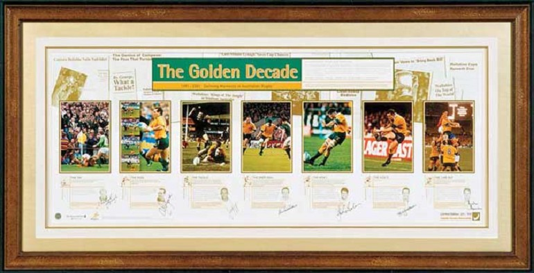 'The Golden Decade' 10 years of classic Wallaby Magic, Signed by 7 players - $1000 OFF!