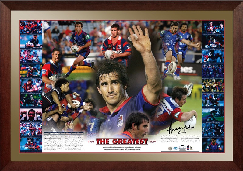 Andrew Johns signed The Greatest