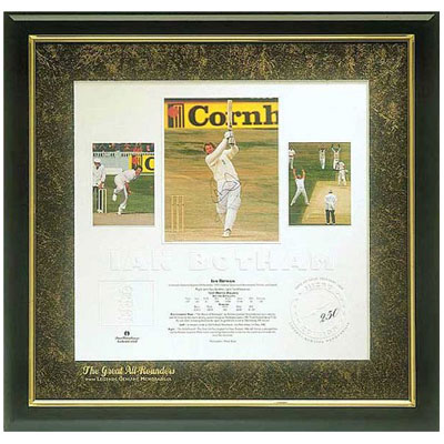 Ian Botham signed 'The Great All-Rounders' lithograph