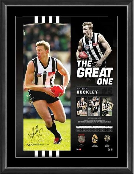 Collingwood Magpies - Nathan Buckley Signed & Framed 'The Great One' Lithograph