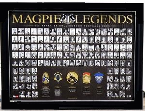 "Collingwood Magpies ""Legends"" 125th Anniversary Deluxe Sportsprint, Framed"