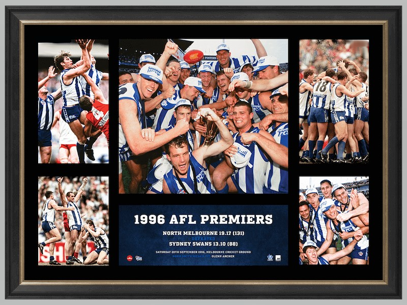 North Melbourne 1996 Premiership Glory Tribute – Framed