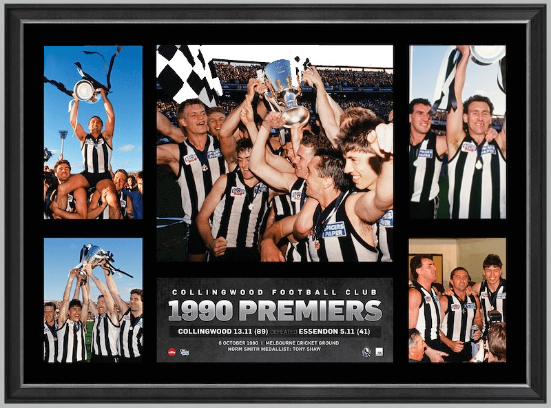 Collingwood 1990 Premiership Glory Tribute – Framed