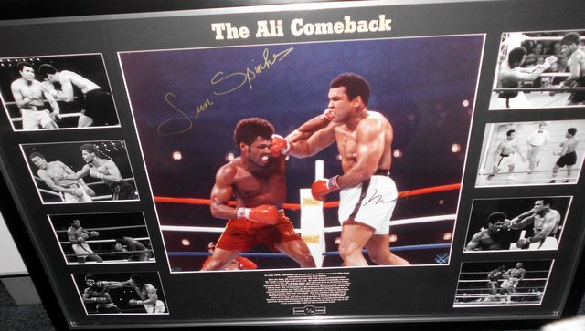 Muhammad Ali Photo Series - 'The Ali Comeback', Dual Signed, Framed