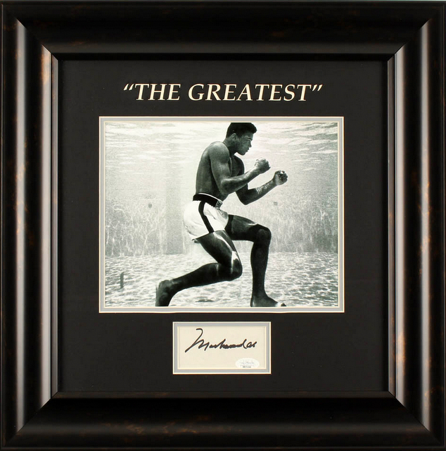 "Muhammad Ali Personally Signed ""The Greatest"" (Version 3) Framed - The Remarkable Underwater Shot!"