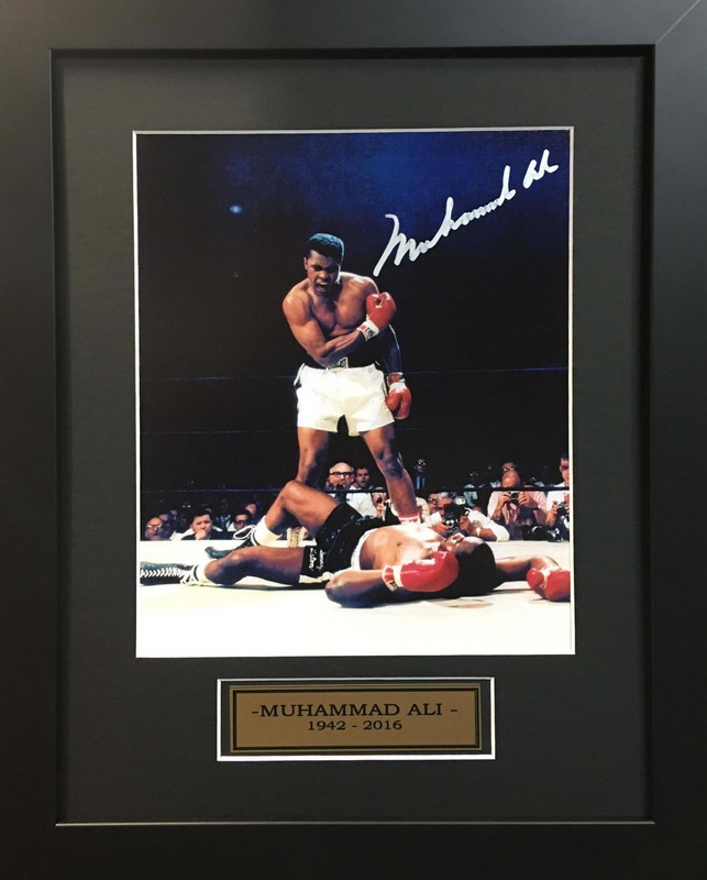 Muhammad Ali Over Sonny Liston, Hand Signed, Framed