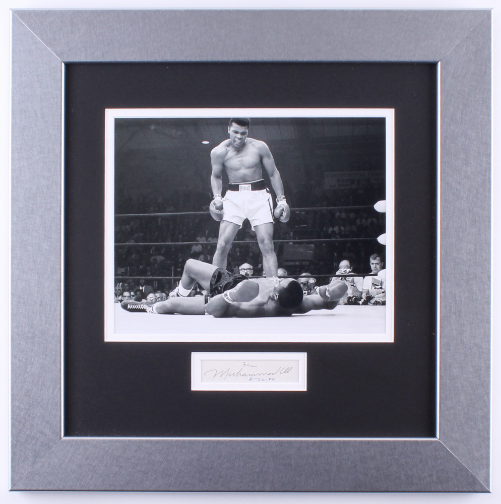 Muhammad Ali Personally Signed & Inscribed Custom Framed Display (JSA ALOA)