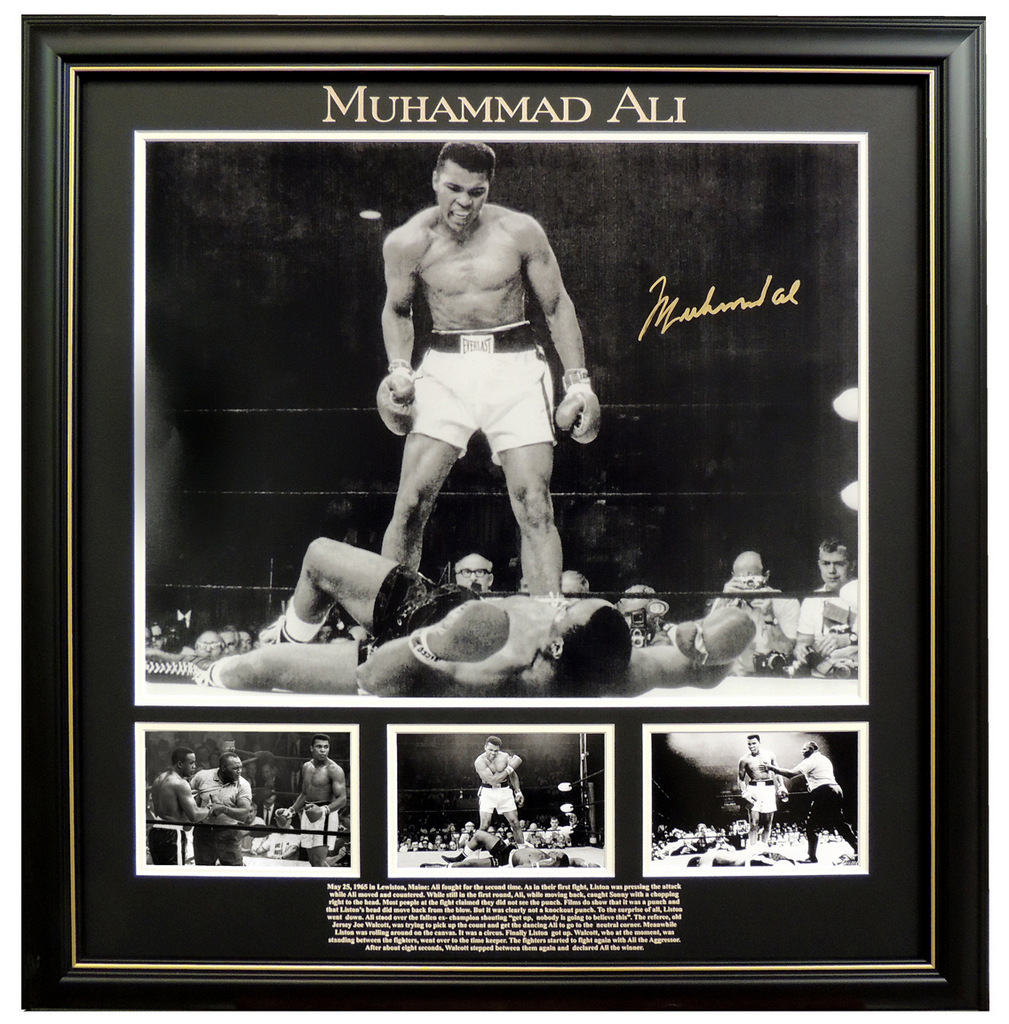 "Muhammad Ali Personally Signed Photo Series - ""Ali over Liston"""