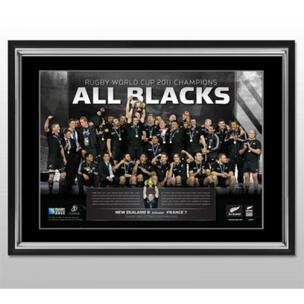 New Zealand All Blacks Rugby World Cup 'Celebration' Photo