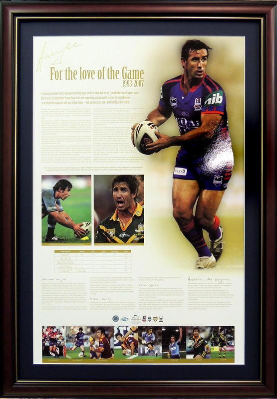 Andrew Johns signed For The Love of The Game