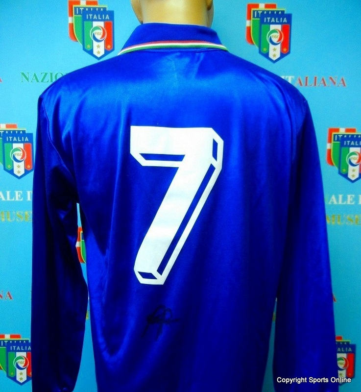 Roberto Baggio, Juventus and Italy, Match Worn Italian Jersey, Personally Signed