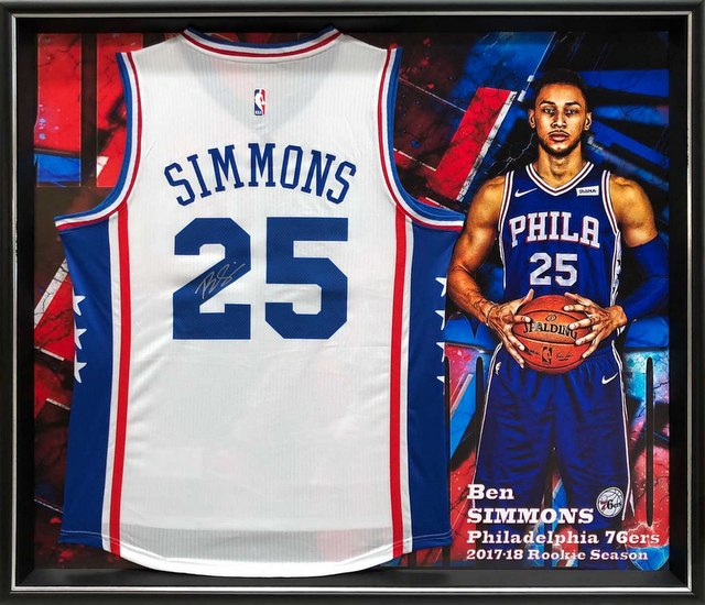 a8045bb8a Ben Simmons Personally Signed 76ers Home Jersey