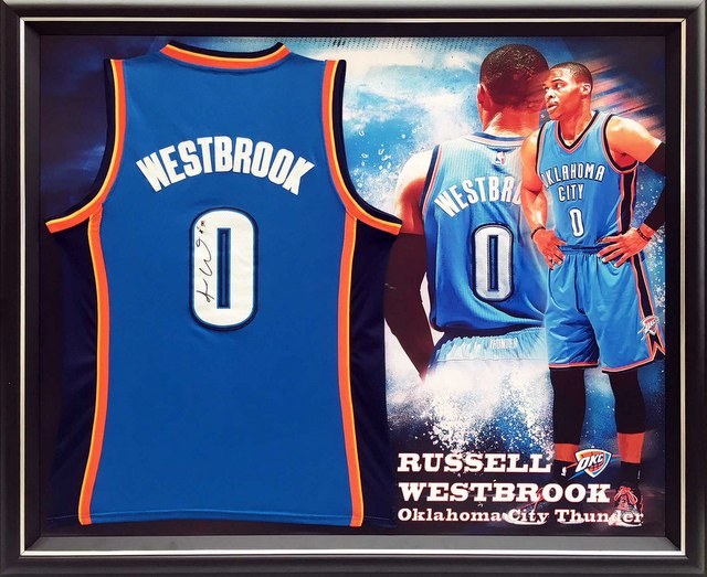 Russell Westbrook signed jersey