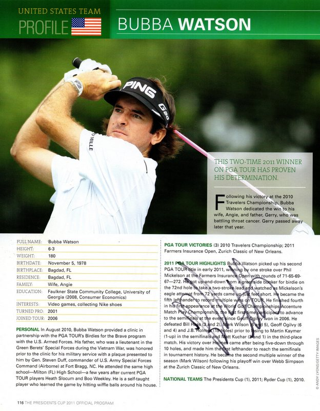 "Bubba Watson Personally Signed ""Legends Series"", Framed"