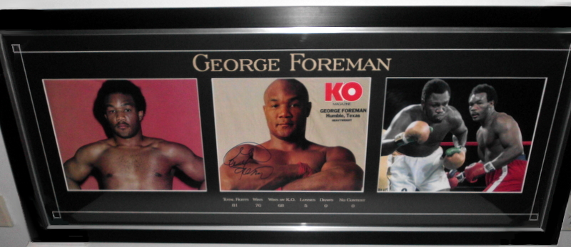 "George Foreman Personally Signed ""Career Series"" (JSA)"