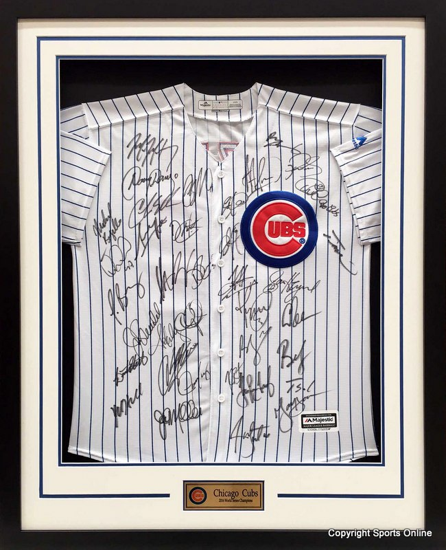 Chicago Cubs 2016 World Series Champions Team Signed Jersey