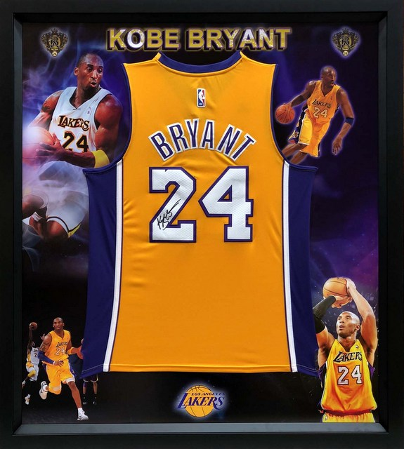 Kobe Bryant Hand-Signed #24 LA Lakers Yellow Jersey