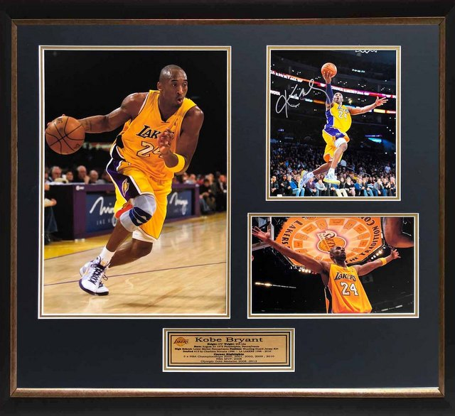 "Kobe Bryant Personally Signed ""Career Tribute V3"", Framed"