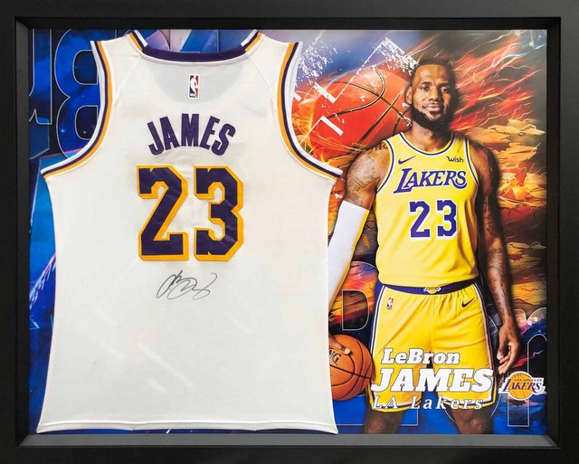 new product 87ca1 c1750 LeBron James Personally Signed LA Lakers White