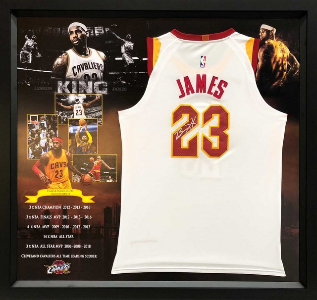 LeBron James Personally Signed Cleveland Cavaliers Authentic Jersey, Home White