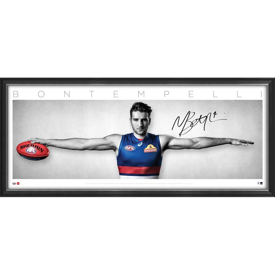 "Marcus Bontempelli Personally Signed ""Wings"", Western Bulldogs"