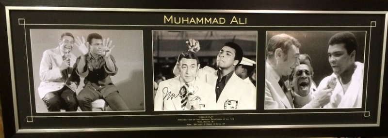 "Muhammad Ali Personally Signed Photo Series, ""Ali and Cosell"", Framed"